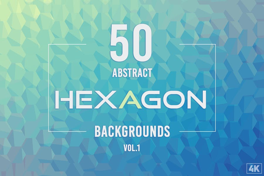 50 Abstrakte Hexagon-Hintergründe - Band 1