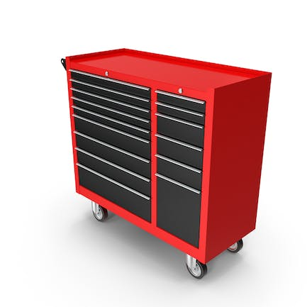 Closed Tool Box Red New