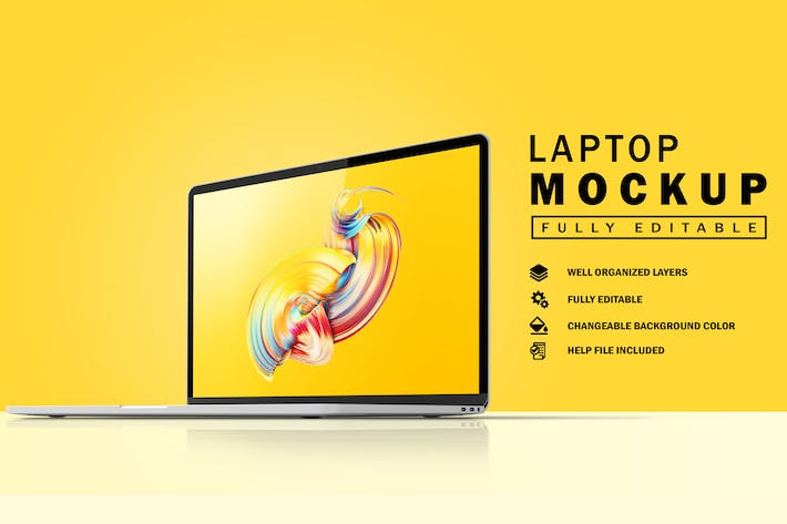 Thumbnail for Laptop Mockup V.1