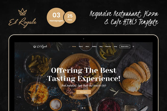 Thumbnail for Elroyale - Restaurant & Cafe HTML5 Template