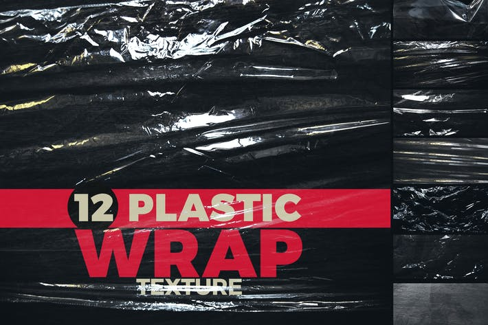 Plastik Wrap Overlay Textur