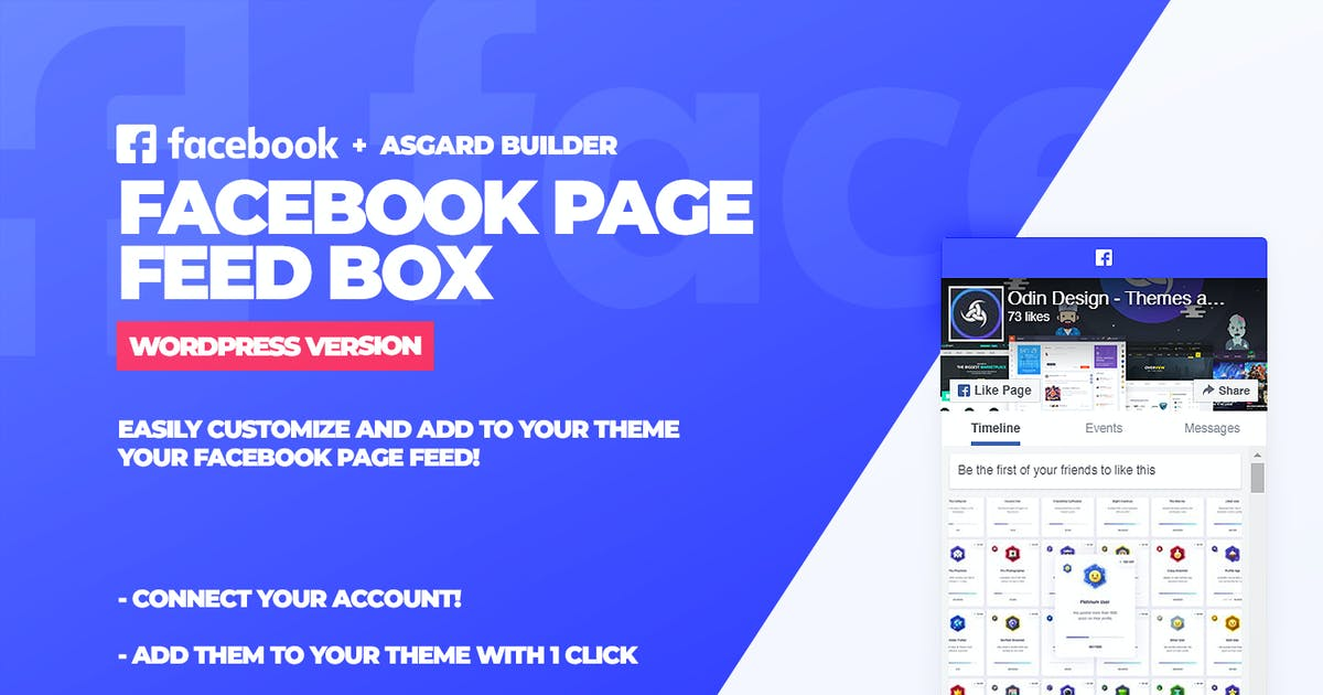 Download Facebook Page Feed Box WordPress Plugin by Odin_Design