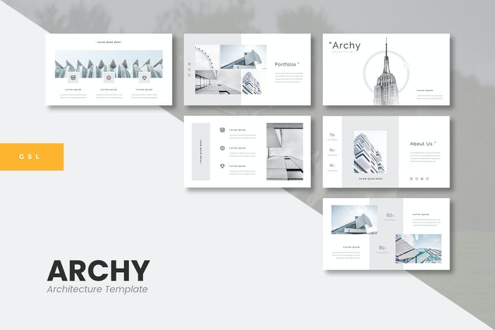 Thumbnail for Archy - Architecture Google Slides Template