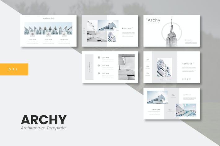 Thumbnail for Арчи - Архитектура Google Слайды Шаблон