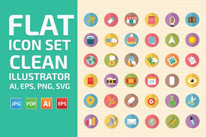 Thumbnail for Flat Icon Set