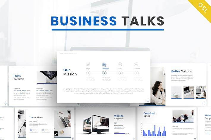 Business Talk - Company Google Slides Template