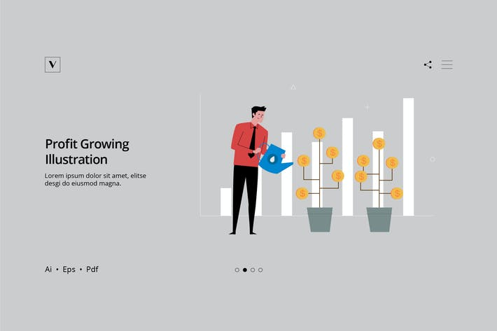 Thumbnail for Business Series - Profit Growing Illustration
