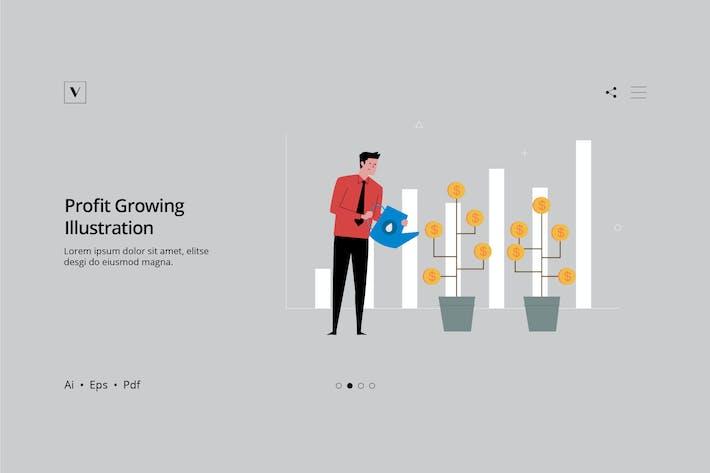 Thumbnail for Serie de negocios - Ilustración de crecimiento de beneficios