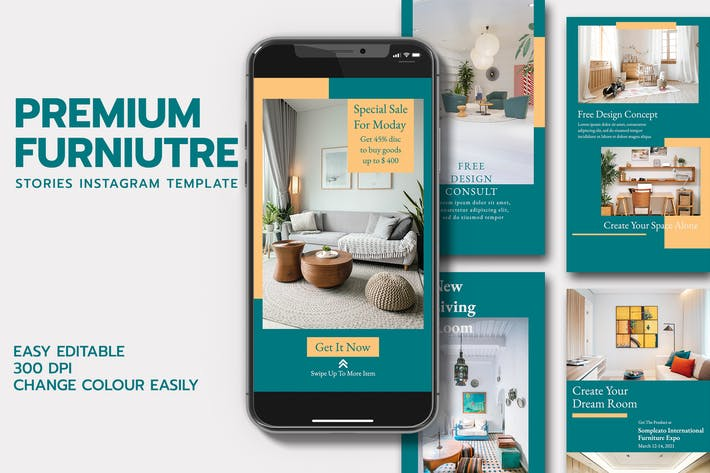 Thumbnail for MS - Premium Furniture Stories Template