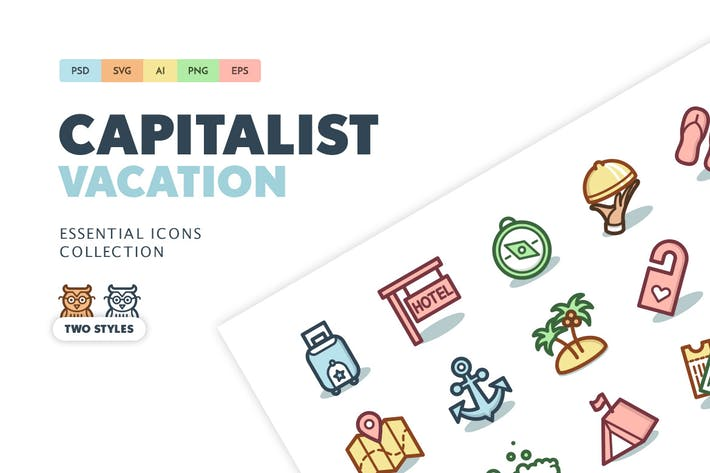 Cover Image For Capitalist Icons: Vacation