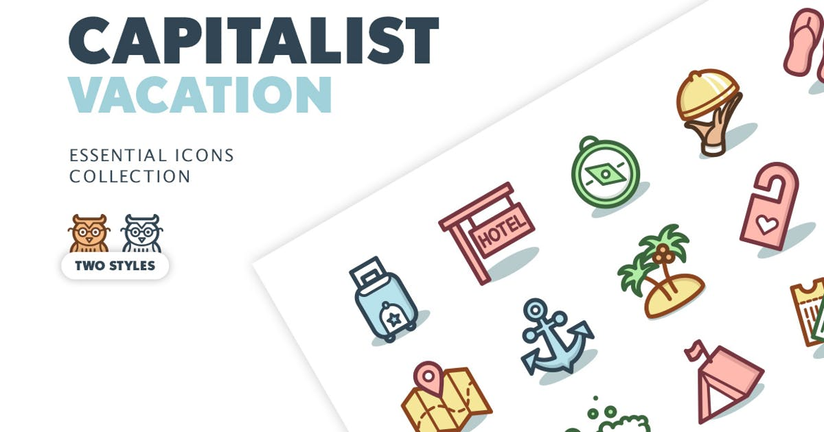 Download Capitalist Icons: Vacation by pixelbuddha_graphic
