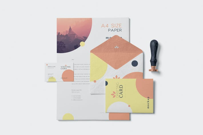 Thumbnail for 5 Stationery Design Mockups