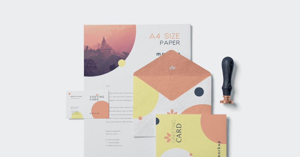 Download 5 Stationery Design Mockups by GfxFoundry