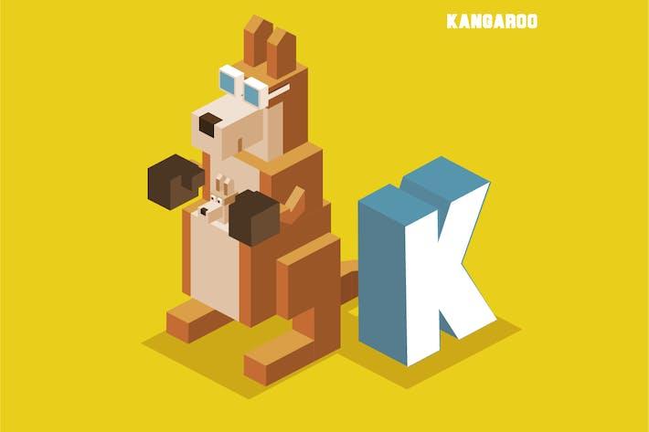 Thumbnail for K for Kangaroo. Animal Alphabet