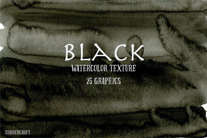 Thumbnail for Watercolor Texture Black