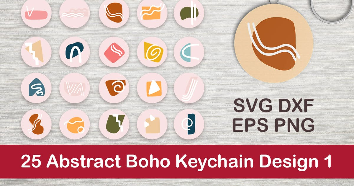 Download 25 Abstract Boho Keychain Designs 1 by DmLetter