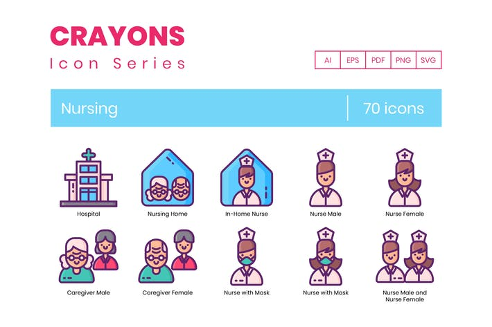 Thumbnail for 70 Nursing Line Icons