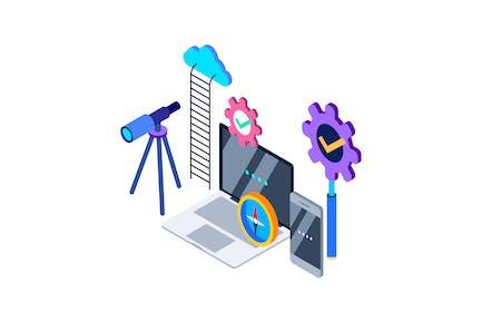 Explore Isometric Illustration