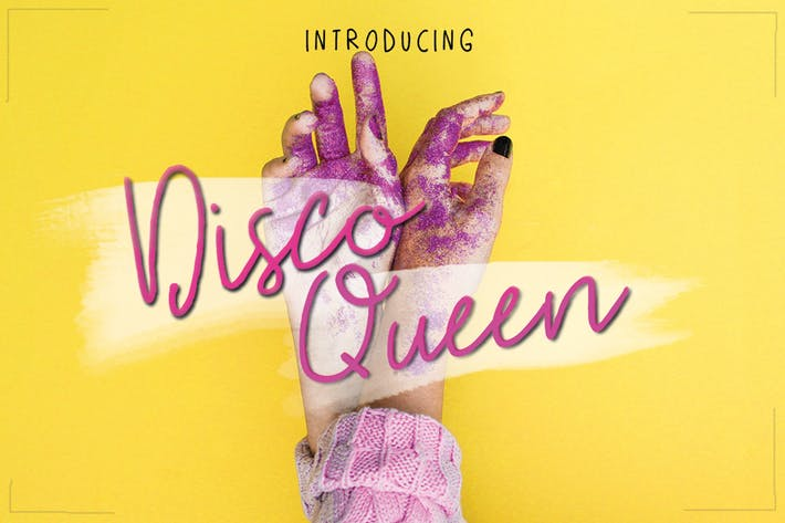 Thumbnail for Disco Queen Font