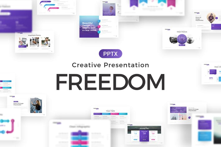Thumbnail for Freedom Creative Powerpoint Template