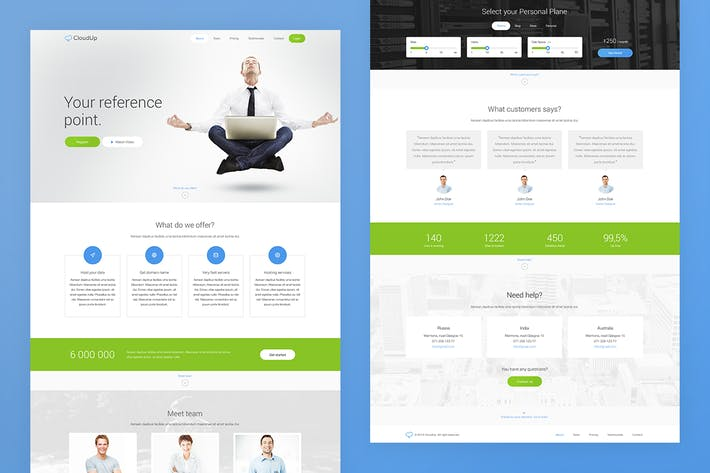 Thumbnail for CloudUp — Landing Page PSD Template