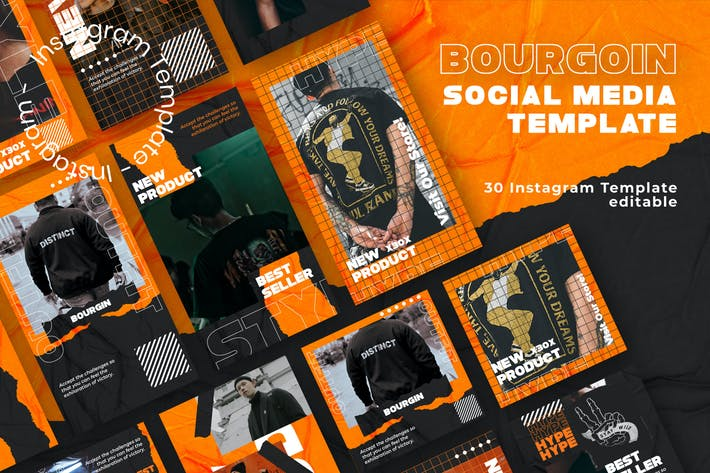 Thumbnail for Bourgoin - Instagram Post and Stories