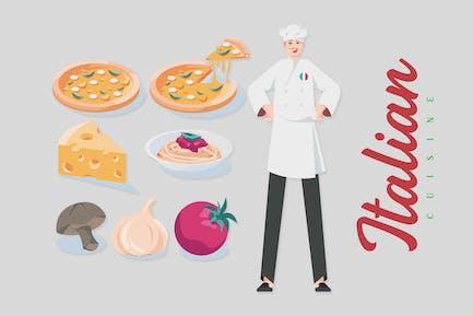 Italian Cuisine - Illustrations