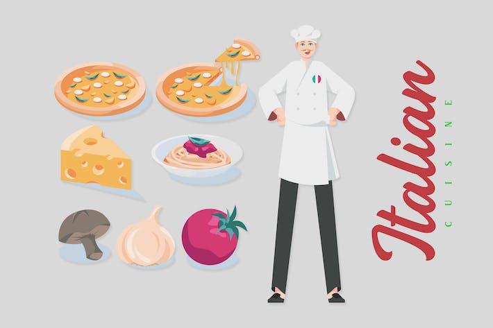 Italienische Küche - Illustrationen