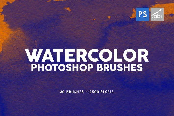 Thumbnail for 30 Watercolor Texture Photoshop Brushes Vol. 2
