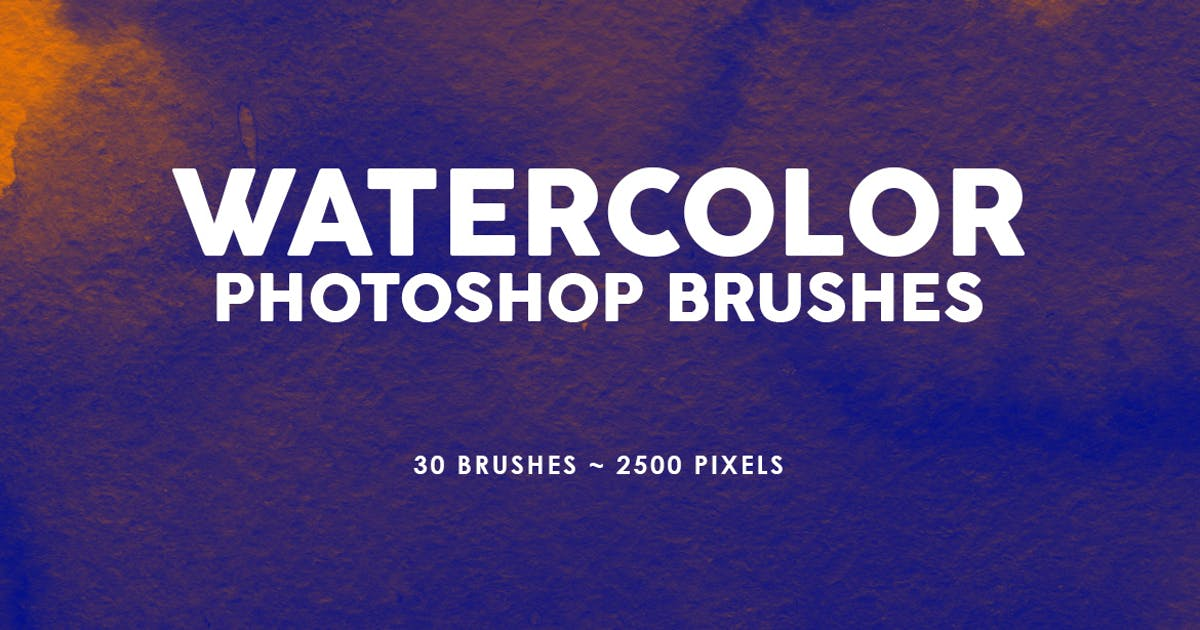 Download 30 Watercolor Texture Photoshop Brushes Vol. 2 by M-e-f