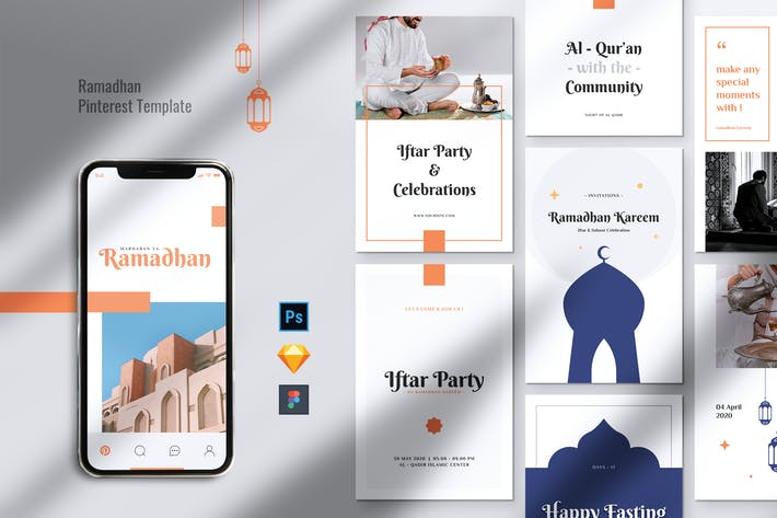 Thumbnail for APOLLO Ramadhan Kareem Pinterest Template