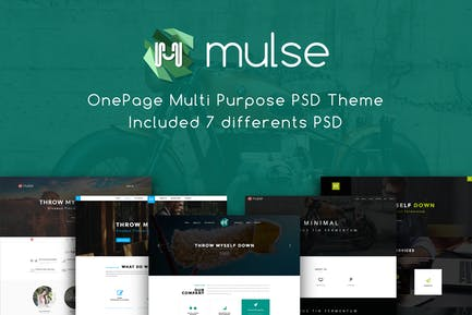 Mulse - Multi Purpose PSD OnePage Template