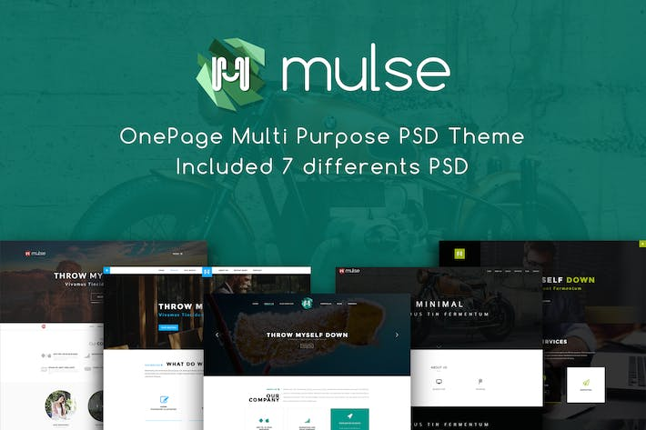 Thumbnail for Mulse - Multi Purpose PSD OnePage Template