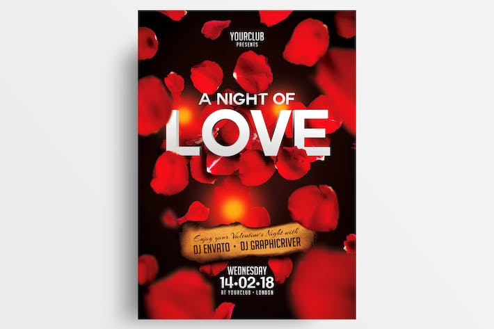 Thumbnail for A Night Of Love Flyer Template