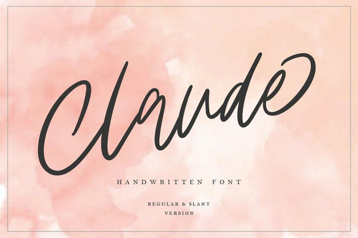 Thumbnail for Claude Handwritten Font MS