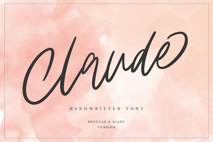 Thumbnail for Клод рукописный шрифт MS