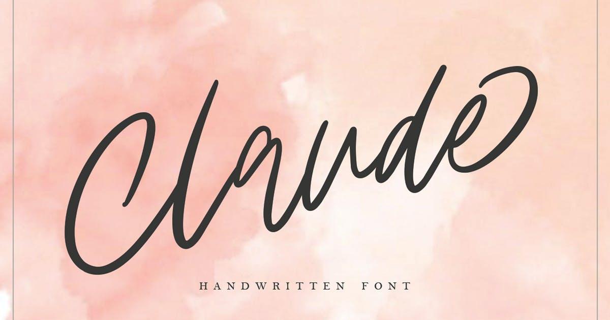 Claude Handwritten Font MS by templatehere