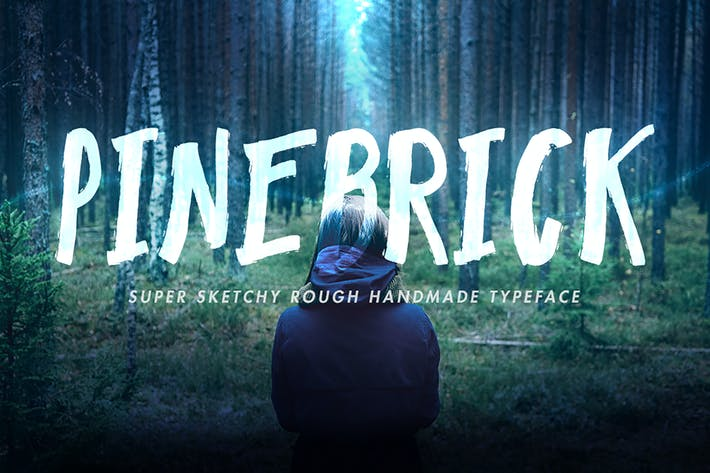 Thumbnail for Pinebrick Typeface