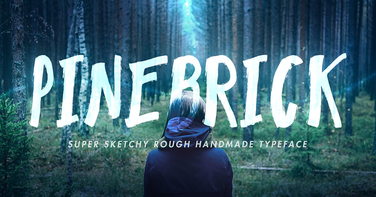 Download Pinebrick Typeface by miaodrawing