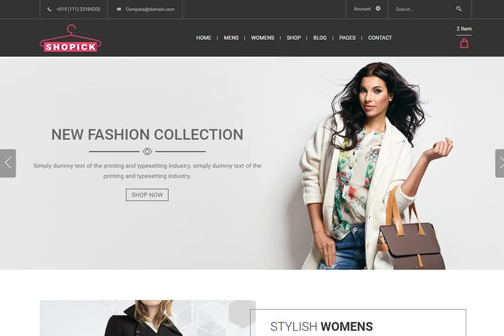 Thumbnail for Shopick - eCommerce Responsive Bootstrap Template