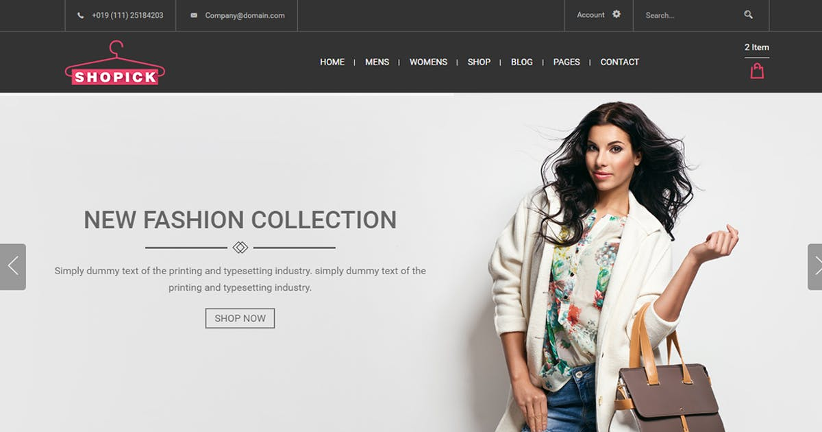 Download Shopick - eCommerce Responsive Bootstrap Template by codecarnival
