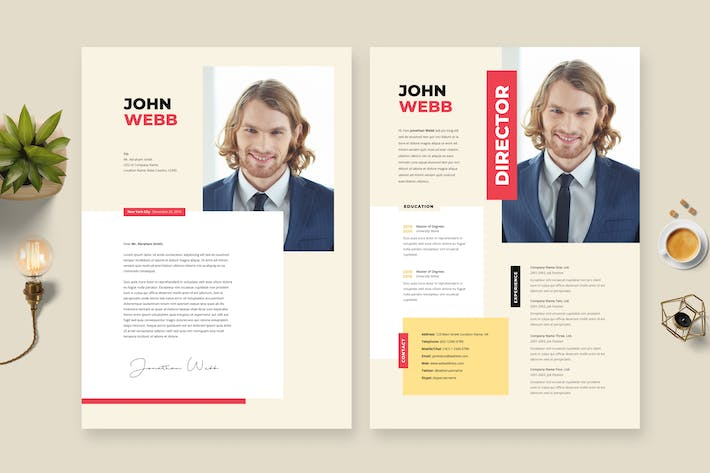 Thumbnail for Creative Resume / CV Template 23