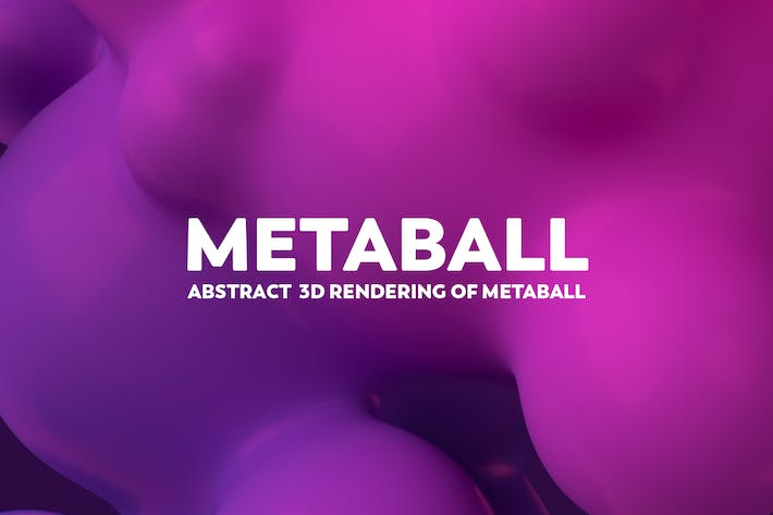 Thumbnail for Abstract 3D Render Of Metaball - Pink And Purple