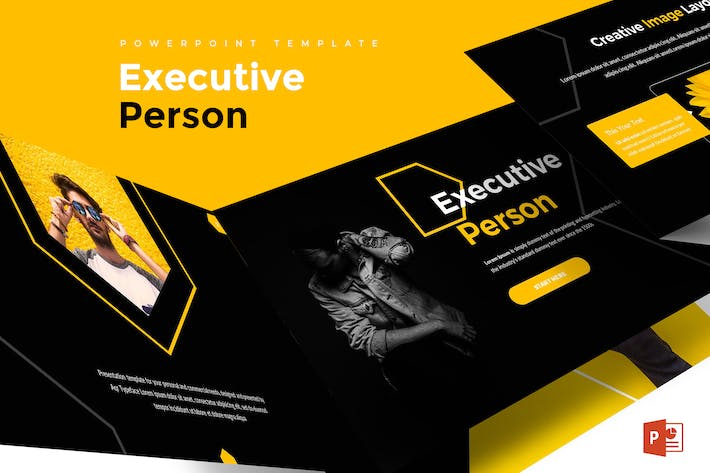 Executive Person Powerpoint Template By Aqrstudio On Envato Elements
