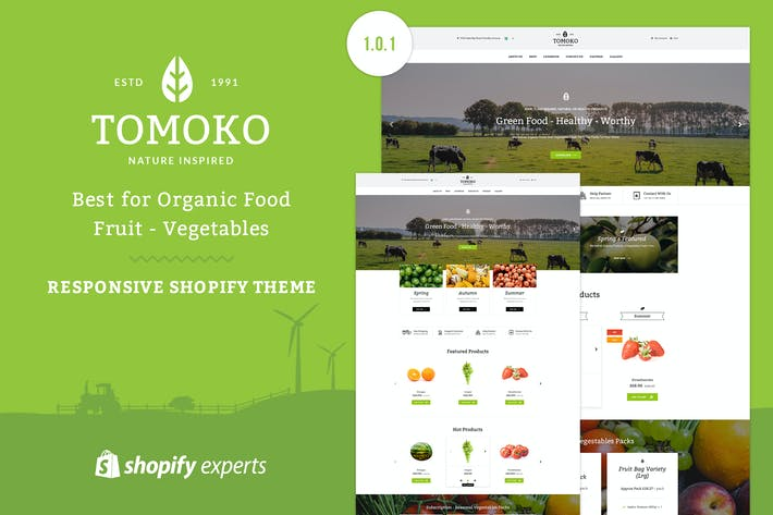 Thumbnail for Tomoko - Organic Food/Fruit Shopify Theme