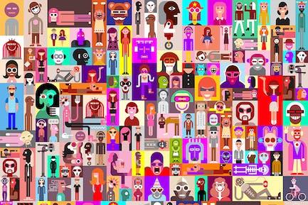 Large Set of People Portraits