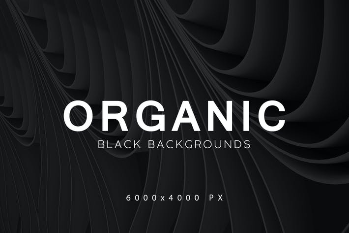 Cover Image For Black Organic Backgrounds 2
