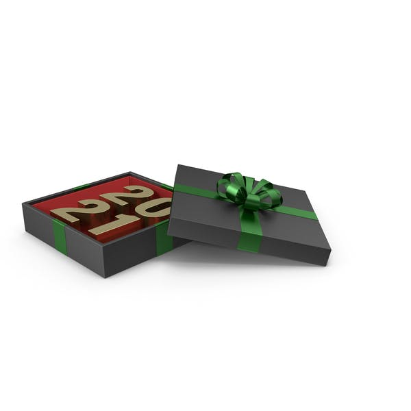 Thumbnail for Gold Symbol 2021 in Black Gift Box with Green Ribbon