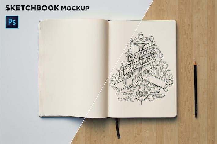 Thumbnail for Sketchbook Mockup Top View