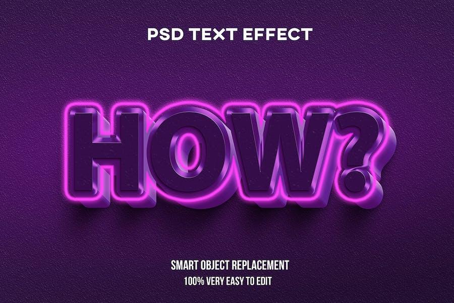 Efecto de texto resplandor rosa